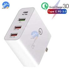 4 포트 USB 충전기 QC3.0 아이폰에 대 한 빠른 충전 삼성 48W 전화 범용 빠른 충전 벽 어댑터 미국 EU 영국 AU 플러그