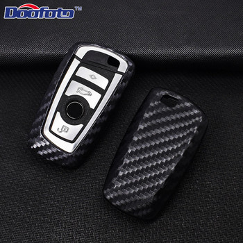 Doofoto Car Styling Auto Key Shell Cover Case For Bmw F05 F10 F20 F30 Z4 X1 X4 X5 X6 New X7 Carbon Fiber Accessories Car-Styling image