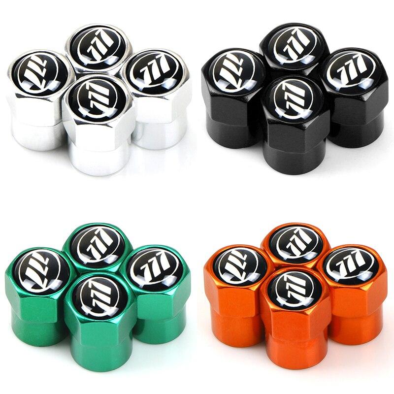 4 шт., Металлические колпачки для воздушных клапанов автомобильных колес с цветным логотипом бренда для lifan solano x60 x50 Marvell 620, автомобильные ак...