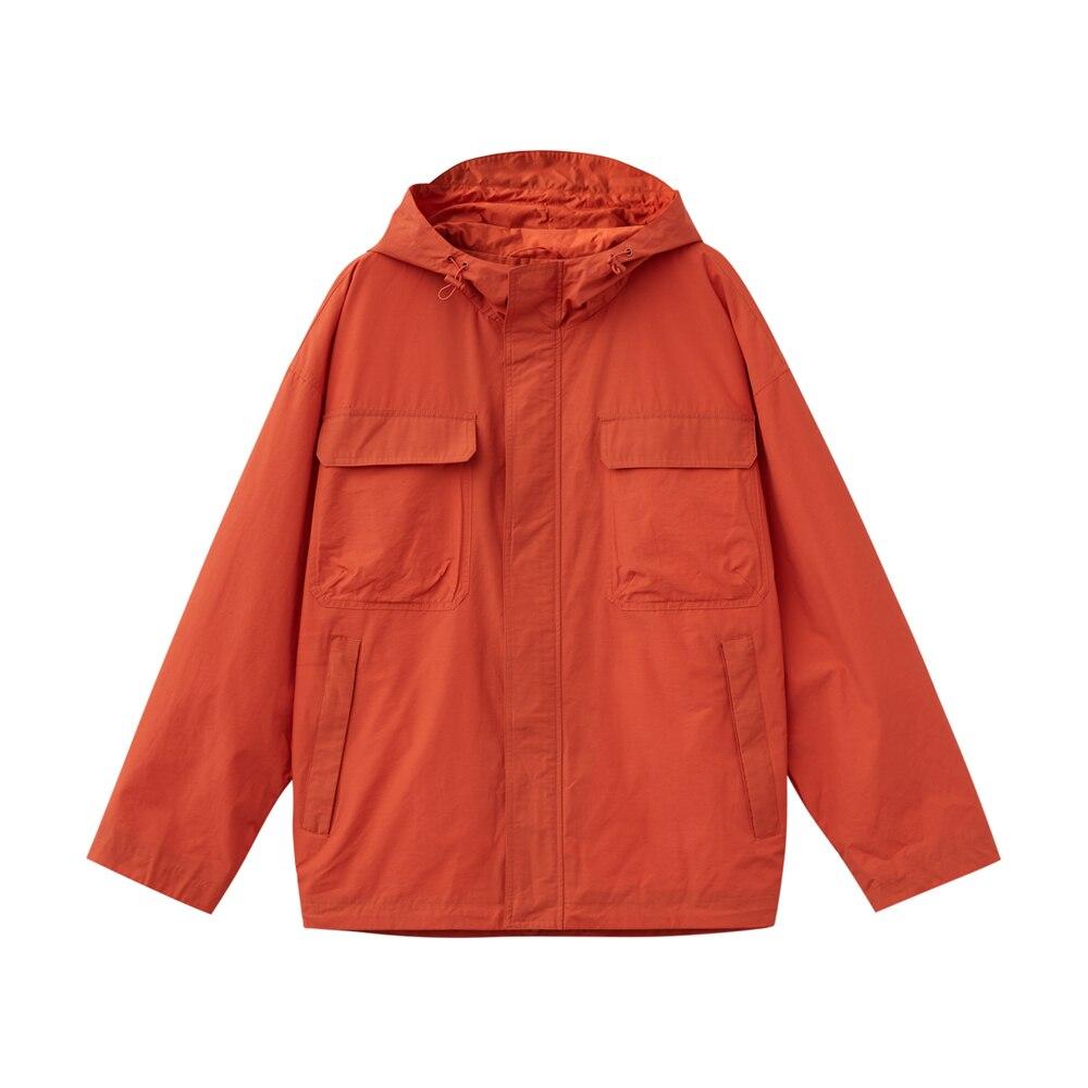 Metersbonwe, Мужская Новинка 2020, Весенняя повседневная куртка, Мужская, красивая, модная, с капюшоном, однотонная, расслабленная, трендовая, повсе... - 6