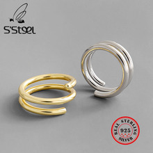 S'STEEL Minimalist 925 Sterling Silver Ring For Women Gold Rings Gothic Aros De Plata Bijoux Argent Massif Pour Femme Jewelry