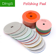 "1 Buah 3/4 ""Pengamplasan Grinding Disc Wet Diamond Polishing Pads Ubin Marmer Granit Polisher Fleksibel Batu Hand Tools(China)"