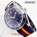 Простые Роскошные автоматические мужские часы с сапфировым стеклом  функция даты 41 мм  круглый чехол для часов  вращающийся циферблат  сини...