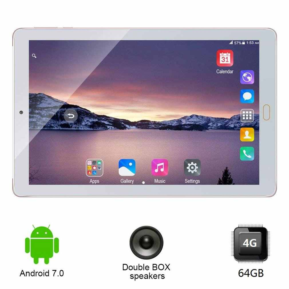 10.1 Inci Tablet PC 3G 4G Panggilan Telepon Android 7.0 Octa Core Tablet Buah 64GB ROM 4GB RAM Wifi FM Bluetooth Smart Tablet 7 8 9