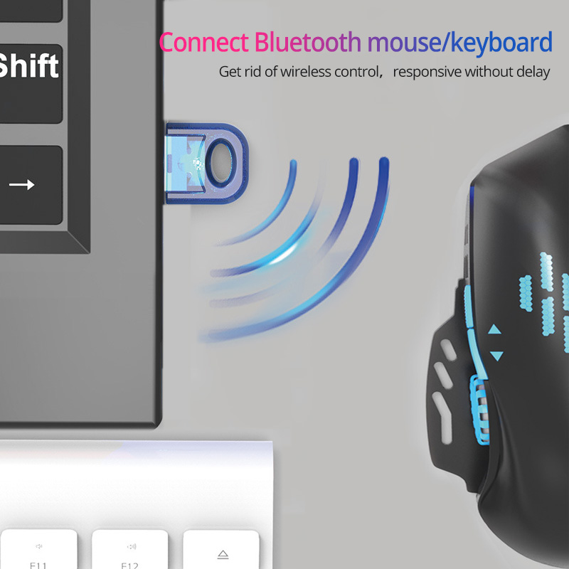 USB Bluetooth Adapter True 5.0 Bluetooth Transmitter for Pc Computer Receptor Laptop Earphone Printer Mouse 4.0 Dongle Receiver 3