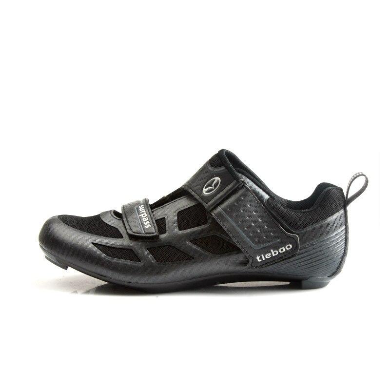 Tiebao nouveaux hommes chaussures de vélo de route anti-dérapant respirant chaussures de cyclisme Triathlon chaussures de Sport athlétique Zapatos bicicleta - 4