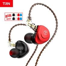 TRN V90s 5BA 1DD الهجين في الأذن سماعة تشغيل سماعة أذن تستخدم عند ممارسة الرياضة OCC الكابلات النحاسية النقية HIFI رصد المعادن سماعة TRN V90 VX ASX