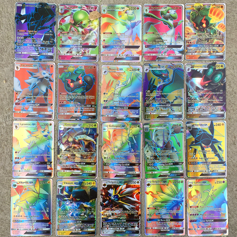 Anime Pokemon Different 300pcs/set Cards No Repeat TOMY Toys Battle Game Snorlax Gengar Eevee Cartoon Kids Christmas Gifts