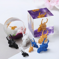 3D Dragon Head Resin Art Decoration Miniature Embellishments Resin Inclusions Resin Art Horse with Wings Miniature Inclusions