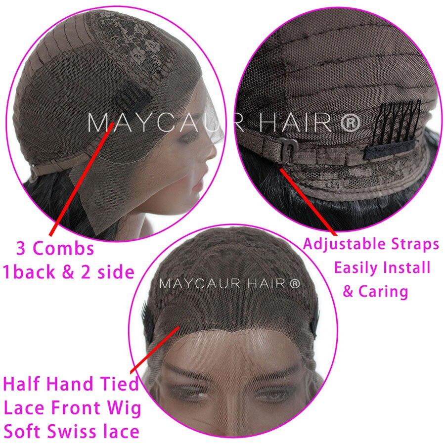 2 tons noir Ombre vert synthétique dentelle avant perruques résistant à la chaleur Fiber cheveux racines foncées court corps vague cheveux pour les femmes - 6