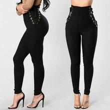цены на Goocheer Women High Waist Pencil Stretch Gym YOGA Fitness Leggings Skinny Pants Trousers New Fashion Black Leggings  в интернет-магазинах