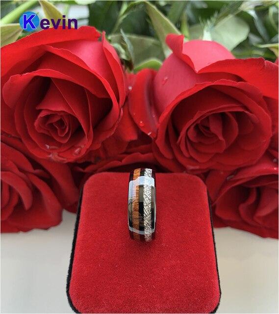Мужское свадебное кольцо черное вольфрамовое двойные канавки