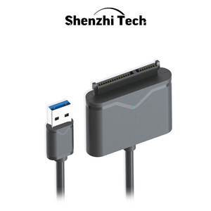 """Image 1 - SATA to USB 3.0 Adapter SATA Cable for 2.5"""" and 3.5"""" SSD HDD External Hard Disk Drive"""