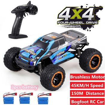 Newest 2.4G 4WD 45km/h Brushless Motor RC Race Truck Car BigFoot Off Road Crawl RC Car Racing Car 150M Kid Strong Shock Absorber image