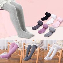 Осенне-зимние леггинсы для девочек мягкие хлопковые теплые чулки эластичные спортивные штаны детские колготки принцессы для девочек от 2 до 8 лет