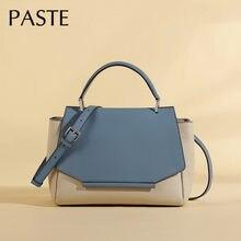 Luxus Marke Designer Getäfelten Trapeze Tasche 100% Natürliche Rindsleder frauen Handtasche Große Schulter Messenger Tasche Sac Femme