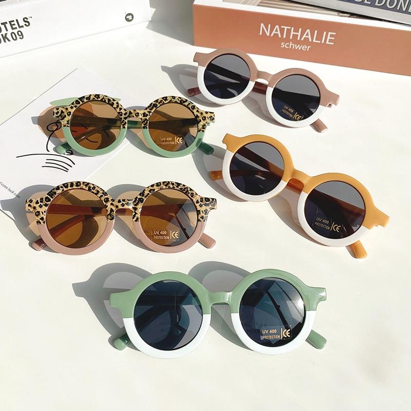 Children Boy Girl Cute Leopard Double Color Cartoon Bear Shape Round Sunglasses Kids Vintage Sunglasses UV400 Protection Classic|Girl's Sunglasses| - AliExpress