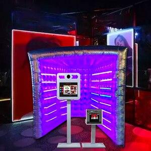 Хороший Vogue Photo booth с светодиодные трубки красный-зеленый-синий цвет огни портативные фото обоих фонов с внутренним вентилятором воздуха для...