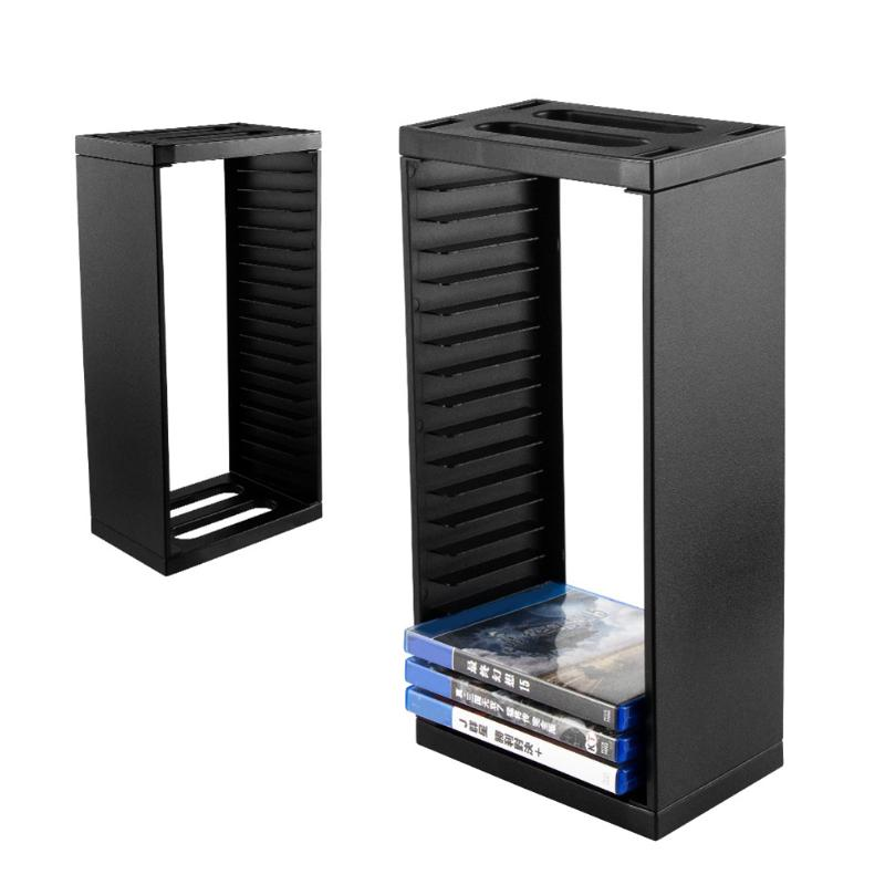 Multifunctional Disk Storage Tower Games Discs Holder Vertical Stand 18 Game Disks Organizer For PS4 Pro Slim For Xbox One