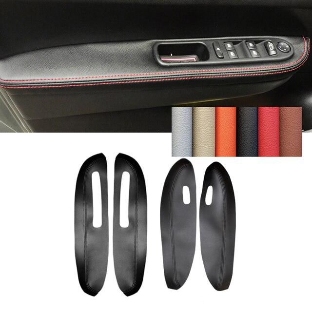 Leather Door Armrest Cover For Peugeot 307 2004 2005 2006 2007 2008 2009 2010 2011 2012 2013 Car Door Armrest Panel Cover Trim