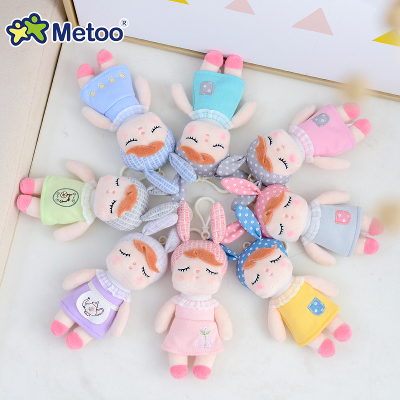 Mini Metoo Doll Stuffed Toys For Girls Baby Cute Cartoon Unicorns Rabbit Small Keychains Pendant Plush Animals For Boys Kids