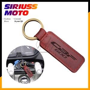 Image 1 - Motorcycle Keychain Cowhide Key Ring Case for Honda CBF600 CBF 600 Key
