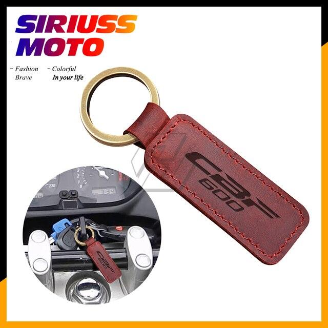 Motorcycle Keychain Cowhide Key Ring Case for Honda CBF600 CBF 600 Key