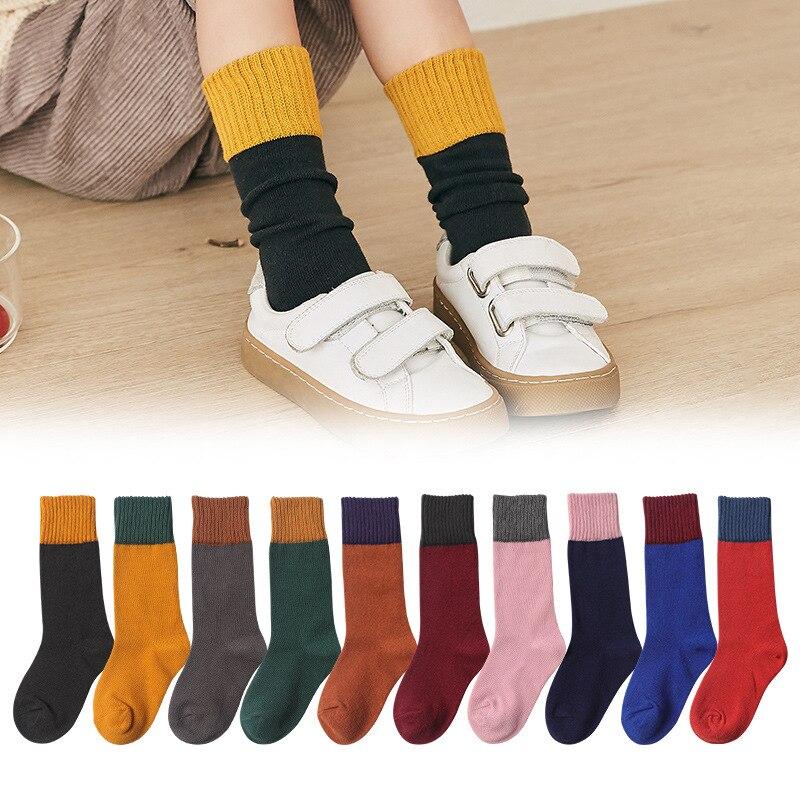 Fashion Socks Boys Girls Autumn Winter Warm Comfortable Socks Cotton Children Loose Socks Baby Toddler Knee High Socks For 1-10Y