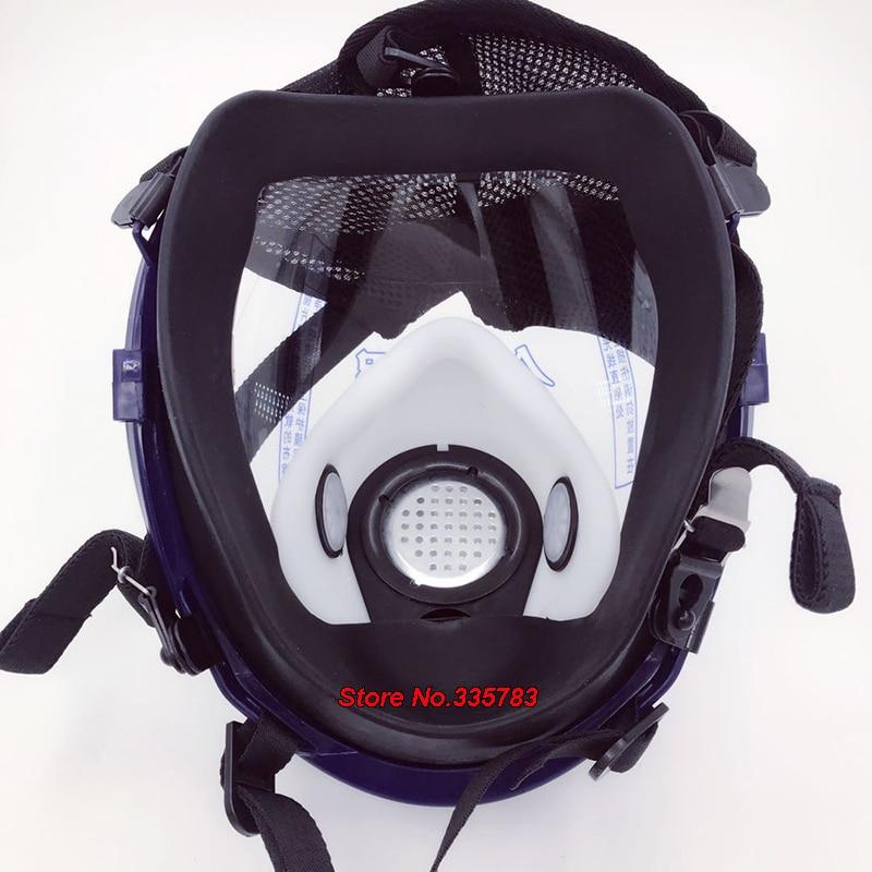 หน้ากากแก๊สทรงกลม เต็มใบหน้า มุมมองกว้าง 3 ตัวกรอง หน้ากากกันแก๊สน้ำตา กันสเปรย์ ไอสารระเหย ไอเคมี ในอุตสาหกรรม