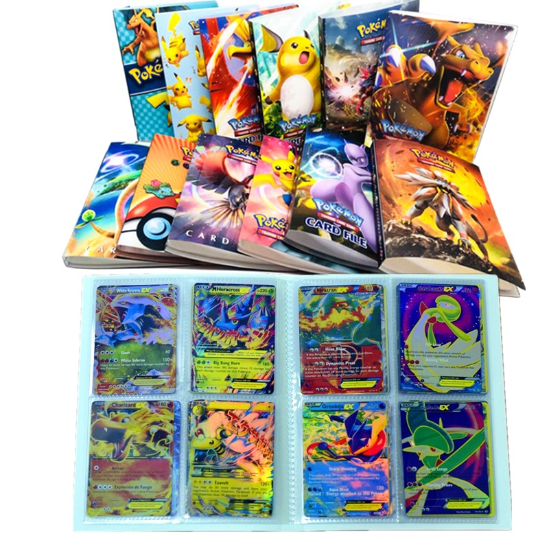 Pokemon Cards 240 Pcs Holder Album 24style Album Book Cartoon Anime Pocket Monster Pikachu Toy For Kids Gift