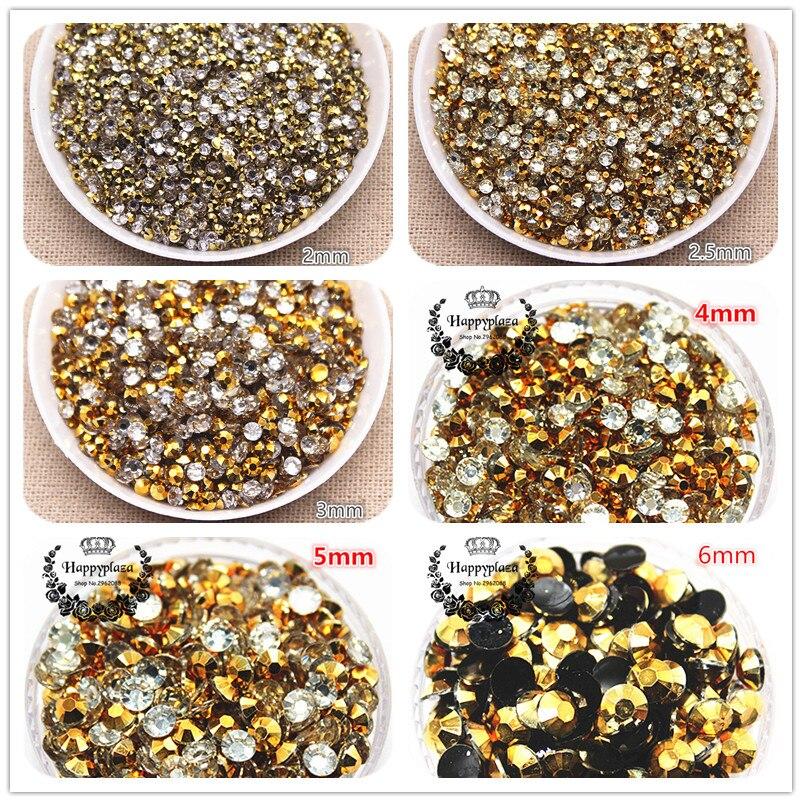 2000pcs Acryl Rhinestone Crystal Half Round Flatback Beads Gems 2//3//4//5mm
