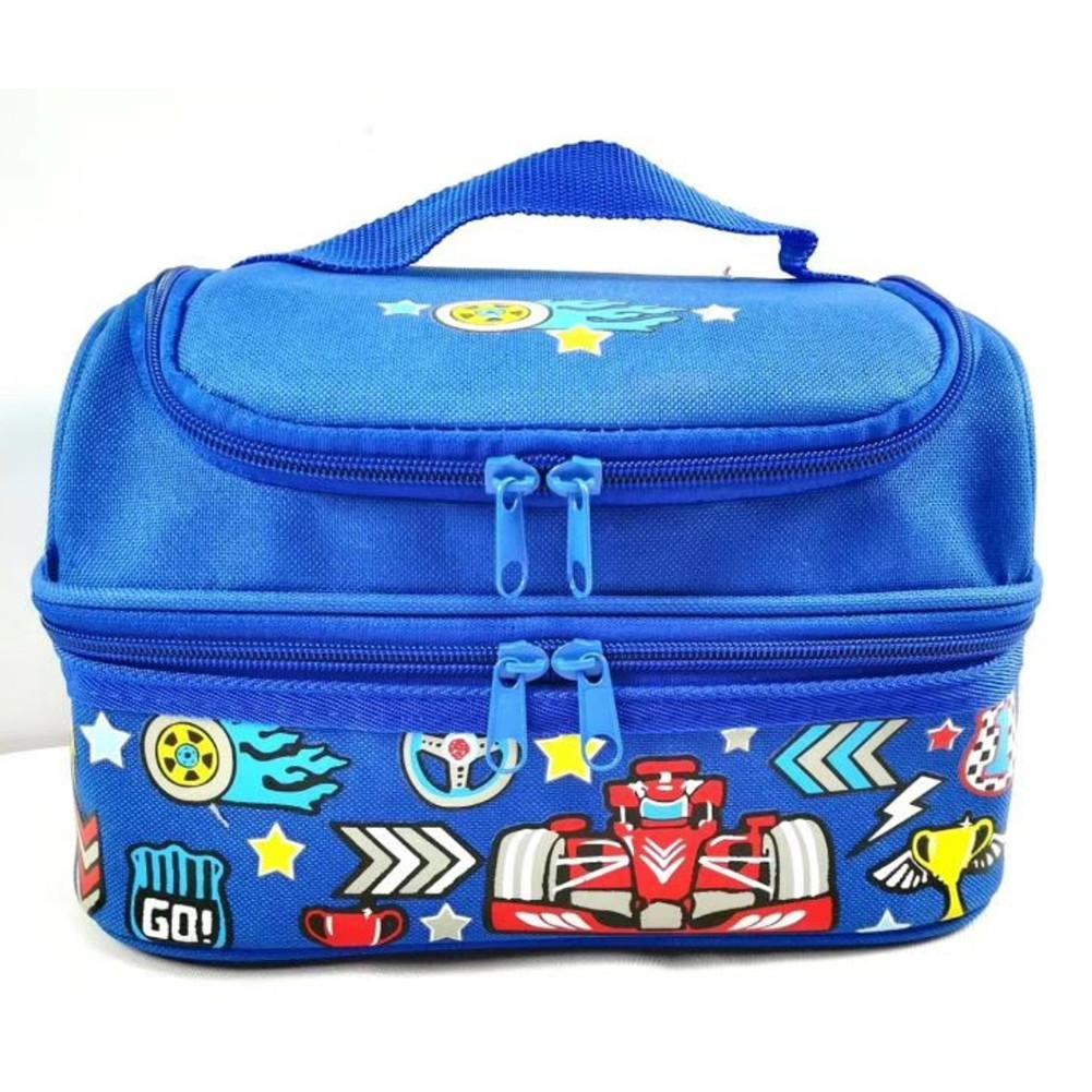 Double Layer Insulated Lunch Box Bag For Children Boy School Student Portable Storage Thermal Insulation Lunchbox Picnic Bags