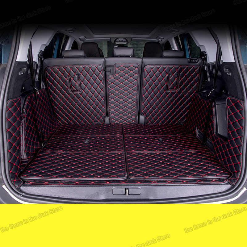lsrtw2017 cuir voiture coffre tapis cargo liner pour peugeot 5008 2017 2018 2019 2020 accessoires 5 7 sieges tapis couvre