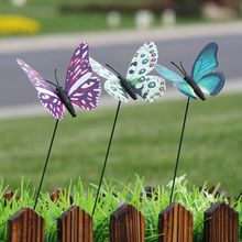 25Pcs Artificial Butterfly Decorations Garden Yard Lawn Patio Outdoor Art Ornaments Random Color  Decorative Crafts