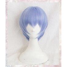 цена на Neon Genesis Evangelion EVA Ayanami Rei Wigs Short Light Blue Heat Resistant Synthetic Hair Perucas Cosplay Wig + Wig Cap