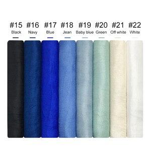 Image 4 - Panie muzułmański hidżab gorąca sprzedaż jedwabne szale kobiety shalws w jednolitym kolorze gładka okłady pałąk Pure color chustka długi tłumik 10 sztuk/partia