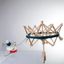 Novo fio de madeira swift fio fio fibra corda enrolador titular guarda-chuva mão tricô artesanato ferramentas para retalhos diy acessórios