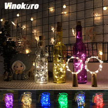Лампа для бутылки вина пробковая лампа 2 м 20 светодиодов гирлянда