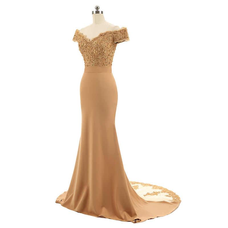 فستان سهرة رسمي طويل بدون كتف للنساء فستان سهرة رسمي للحفلات الذكرى السنوية لحورية البحر للنساء