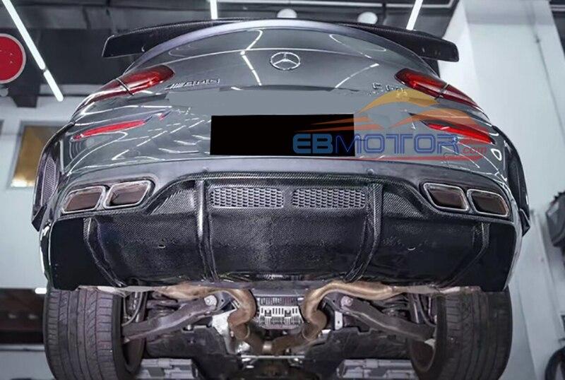 Real Carbon Faser Auto Heckschürze Diffusor für Mercedes Benz C Klasse W205 C63 Coupe 15UP M157