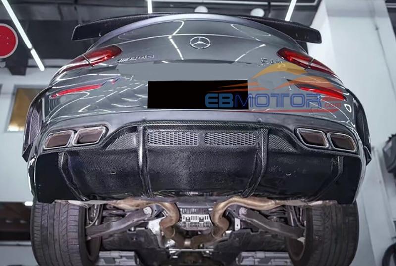 Real Carbon Fiber Car Rear Bumper Diffuser voor Mercedes Benz C Klasse W205 C63 Coupe 15UP M157