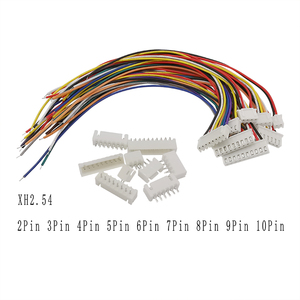 5/10Sets 2P 3P 4P 5P 6P 7P 8P 9P 10Pin Pitch 2.54mm JST XH2.54 XH 2.54mm Male Female Plug Socket Wire Cable Connector 20CM 26AWG(China)