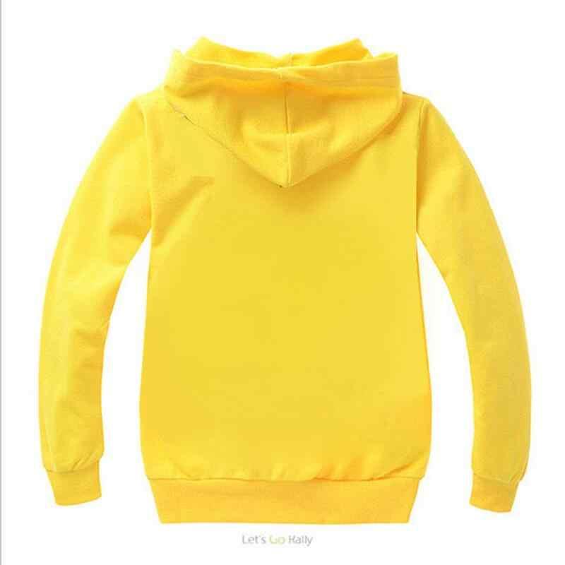 Nowe chłopięce bluzy z kapturem dla dzieci odzież dla dziewczynek Pikachu koszulki Legoe dla dzieci pokemon go bluzy z kapturem dla chłopca bluza z kapturem Polo