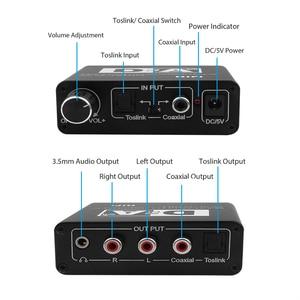 Image 1 - Convertisseur numérique vers analogique 24 bits 3.5 Jack RCA DAC Spdif amplificateur décodeur Fiber optique Coaxial pour casque avec bouton de Volume