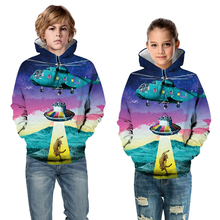 Kids Hooded Sweatshirt Clothes Children Long Sleeve Pullover Tops Fashion Print Boys Girls Hoodies  Outerwear недорого