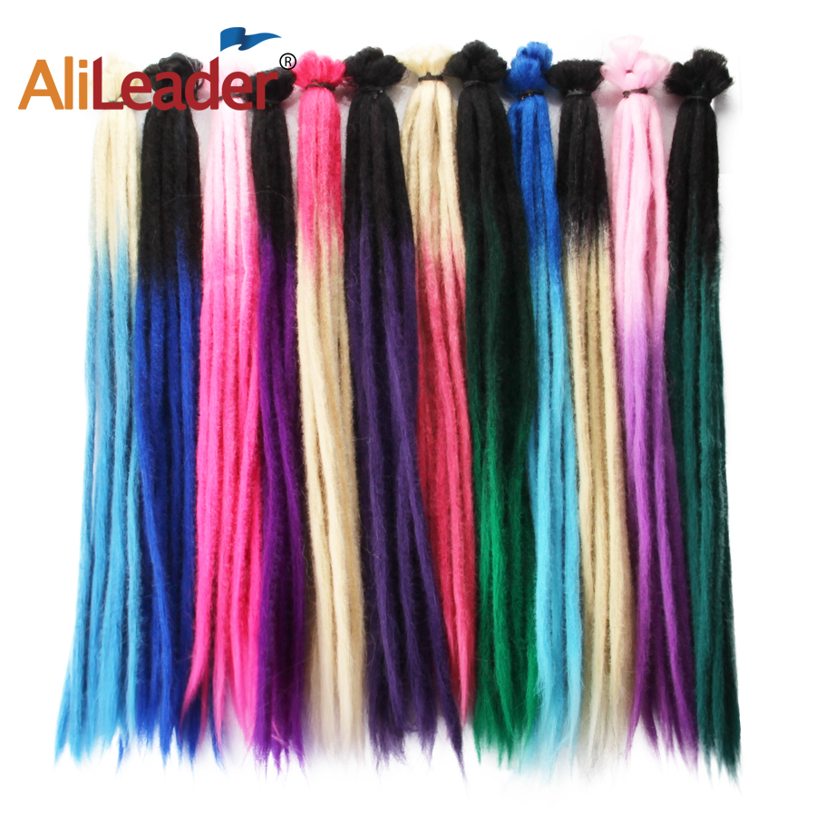 Alieader Kanekalon Handmade Dreadlocks Hair Extension Synthetic Hair Braids For Women Omber Braiding Hair Extensions