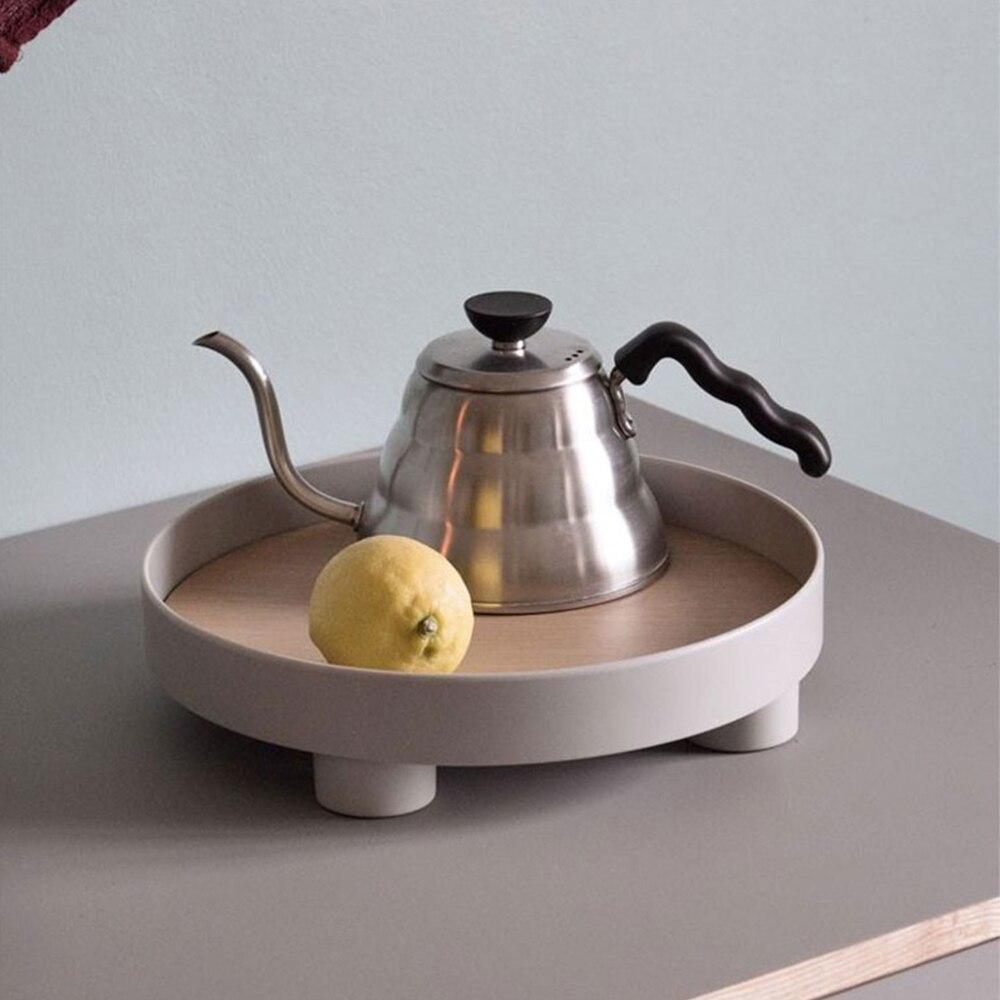 Поднос для хранения чая и еды, круглая настольная посуда для ювелирных изделий и мелочей, подходит для домашнего декора-1