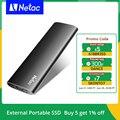 Netac внешний твердотельный накопитель 500 Гб 250 Портативный SSD 1 ТБ 2 ТБ жесткий диск SSD Внешний жесткий диск USB 3,2 Тип C внешний твердотельный нако...