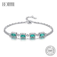 DOTEFFIL High Quality Luxury Bracelet for Women 925 Solid Silver Charming Twin Chains Wedding Bracelet Jewelry Brincos