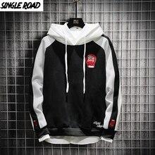 Мужская толстовка SingleRoad, черная толстовка с капюшоном в стиле хип хоп, Японская уличная одежда, 2020